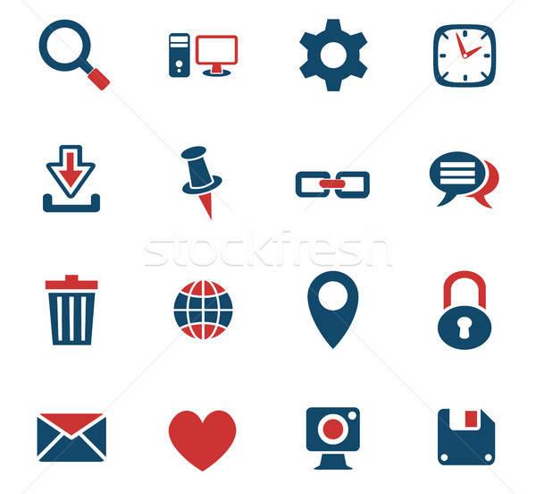 blog icon set Stock photo © ayaxmr