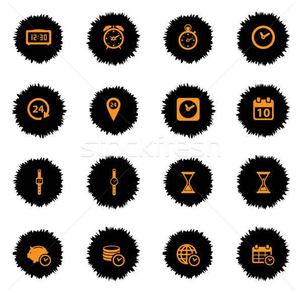 Tiempo simplemente iconos vector web usuario Foto stock © ayaxmr