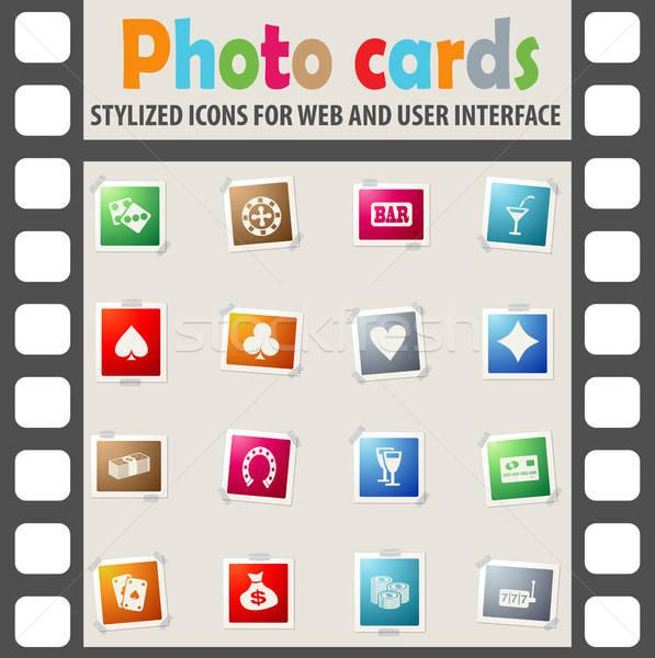Casino iconos de la web usuario interfaz diseno Foto stock © ayaxmr