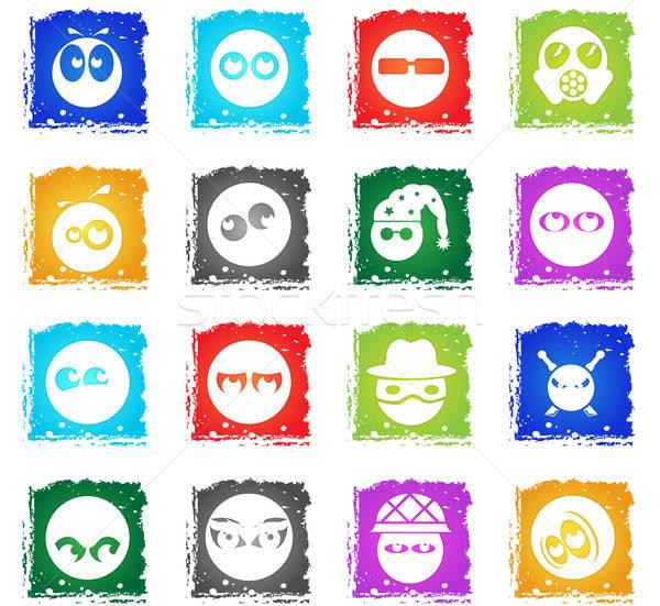 Emotions and glances icons Stock photo © ayaxmr