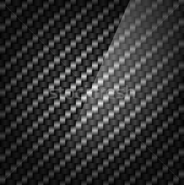 Kohlefaser Muster eps 10 Hintergrund Textil Stock foto © ayaxmr
