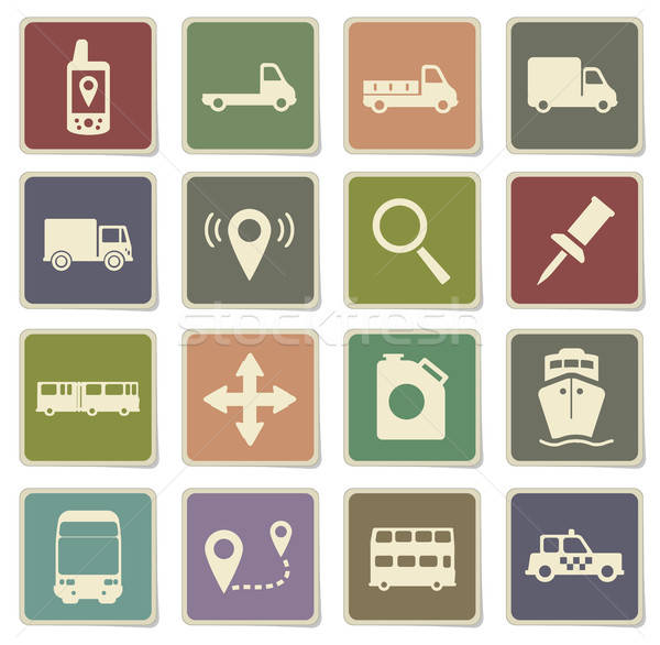 Stock photo: Navigation simply icons