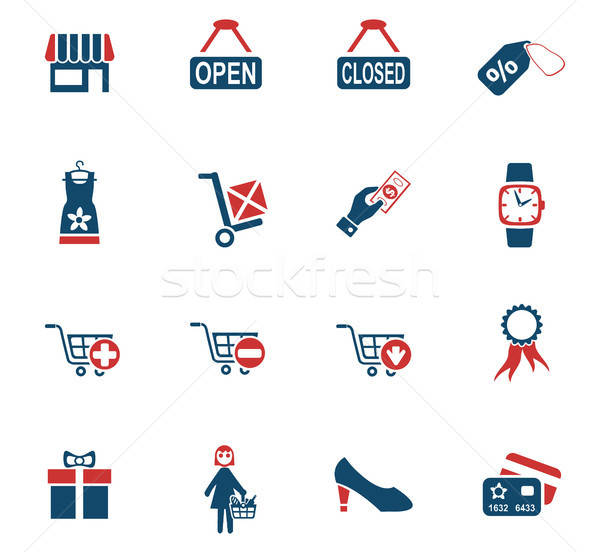 shopping and e-commerce icon set Stock photo © ayaxmr