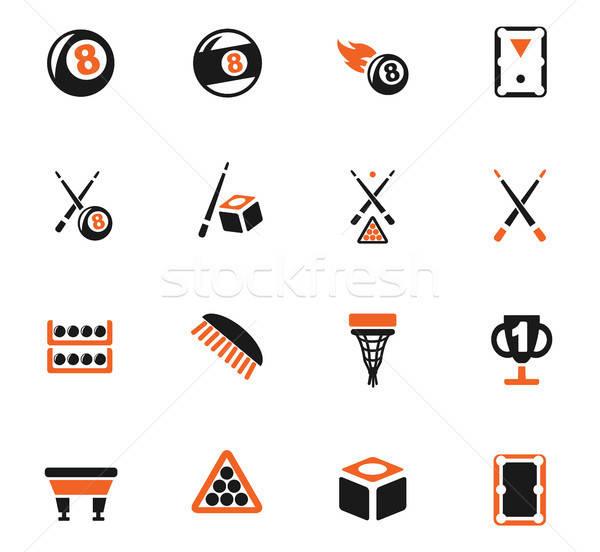 Biljart web icons gebruiker interface ontwerp Stockfoto © ayaxmr