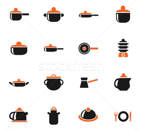 Bulaşık web simgeleri kullanıcı arayüz dizayn Stok fotoğraf © ayaxmr