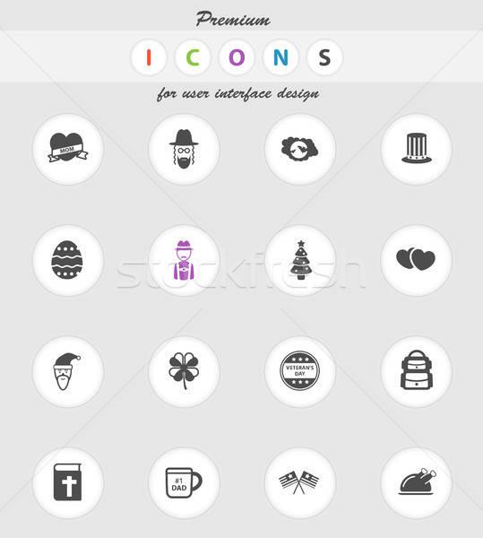 Zdjęcia stock: Wakacje · po · prostu · ikona · wektora · internetowych · użytkownik