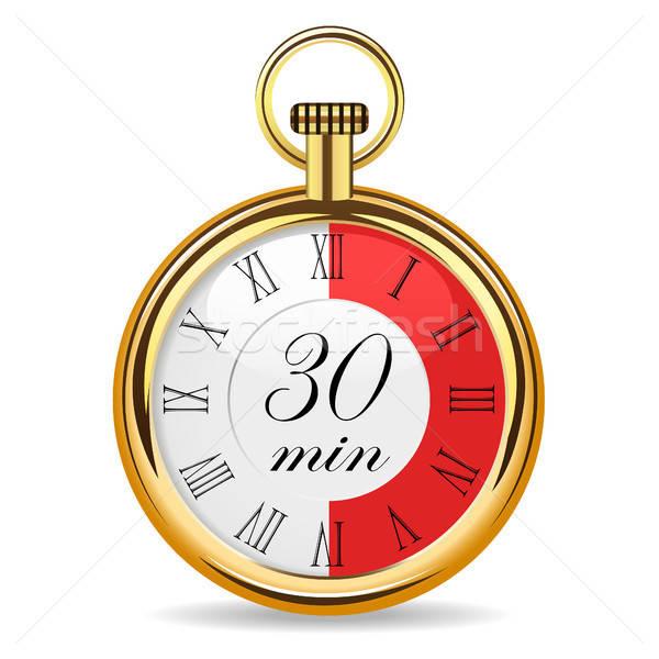 Mécanique regarder timer 30 isolé Photo stock © ayaxmr