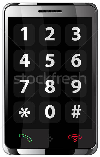 Mobile phone with touchscreen (communicator) in steel body. Stock photo © ayaxmr