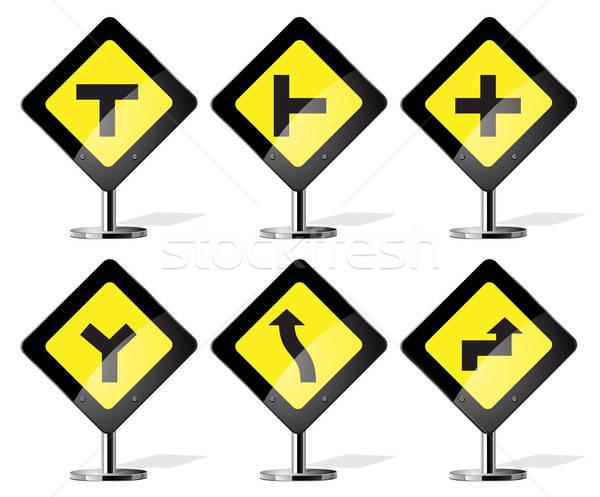 Verkeersborden verkeersbord vector web auto Stockfoto © ayaxmr