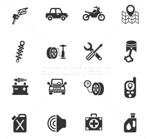 Auto winkel web icons gebruiker interface Stockfoto © ayaxmr