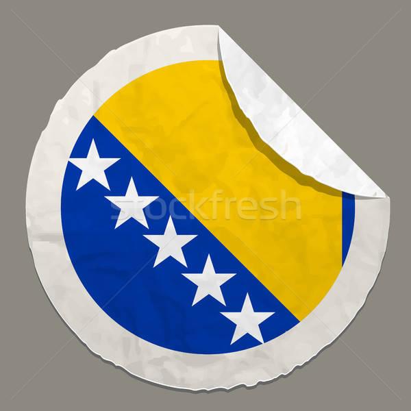 Bandera papel etiqueta símbolo signo Foto stock © ayaxmr