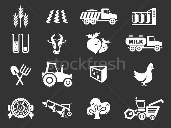 Agrícola ícone simplesmente símbolo os ícones do web pássaro Foto stock © ayaxmr
