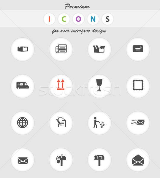 Post dienst eenvoudig iconen vector web Stockfoto © ayaxmr