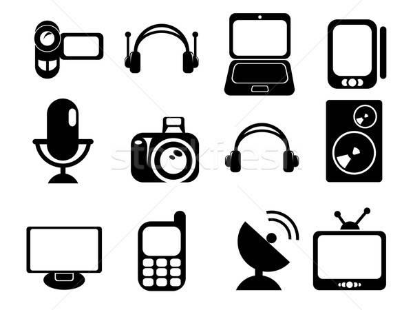 Media simply icons Stock photo © ayaxmr