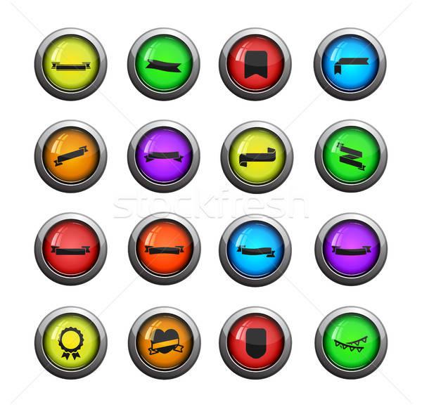 Lint eenvoudig iconen web gebruiker Stockfoto © ayaxmr