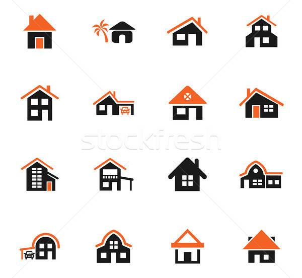Huis type web icons gebruiker interface Stockfoto © ayaxmr