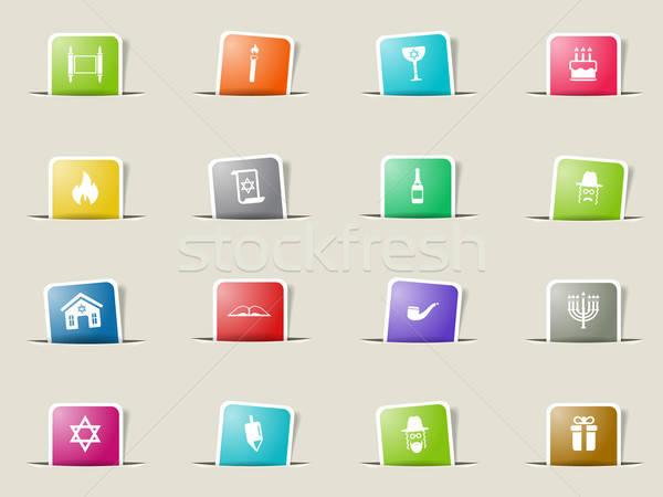 Simplesmente ícones teia usuário interface Foto stock © ayaxmr