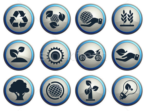 Foto stock: Ecología · icono · web · usuario · interfaz