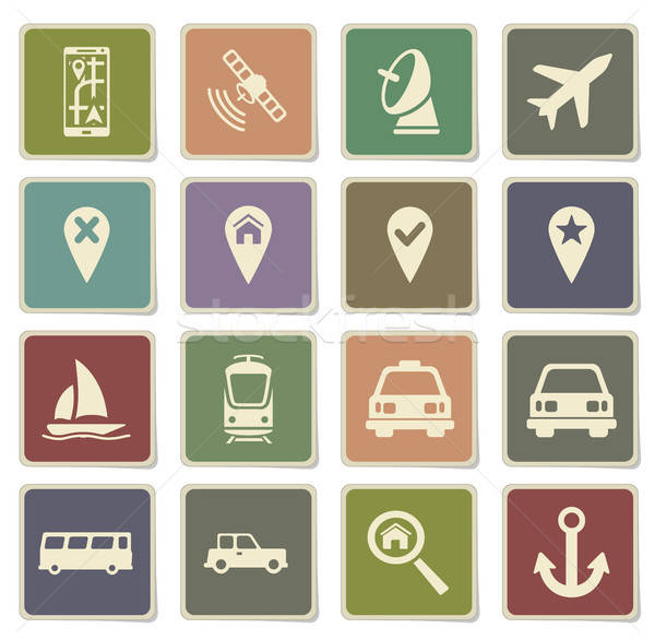 Navigation simply icons Stock photo © ayaxmr