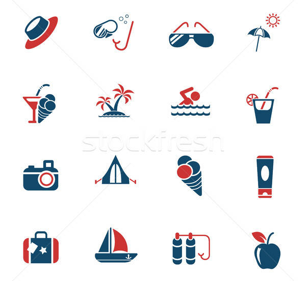 Zomer web icons gebruiker interface ontwerp Stockfoto © ayaxmr