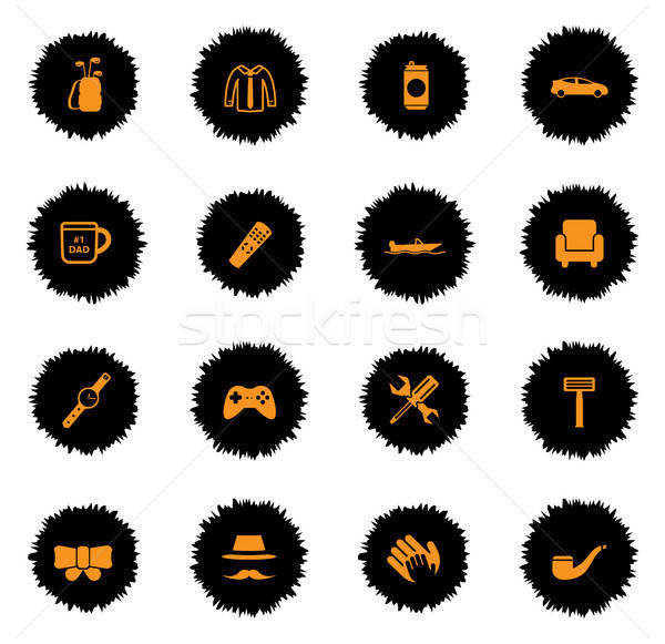 Stock photo: Fathers day simply icons