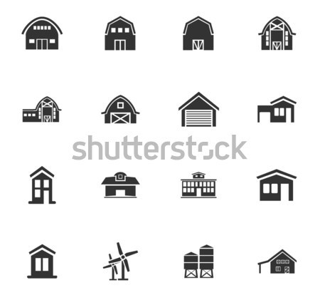 farm building icon set Stock photo © ayaxmr
