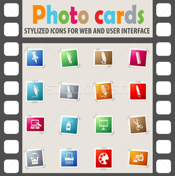 Kunst tools web icons gebruiker interface Stockfoto © ayaxmr