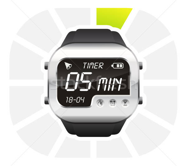 digital watch timer 5 minutes Stock photo © ayaxmr
