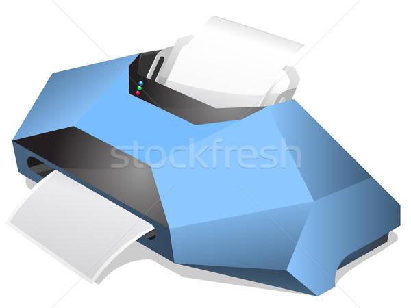 Impressora protótipo eps 10 negócio papel Foto stock © ayaxmr