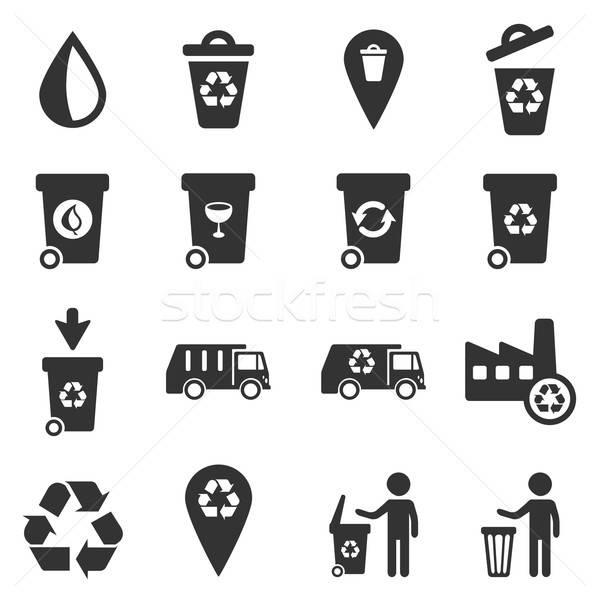 мусора просто иконки символ веб-иконы пользователь Сток-фото © ayaxmr