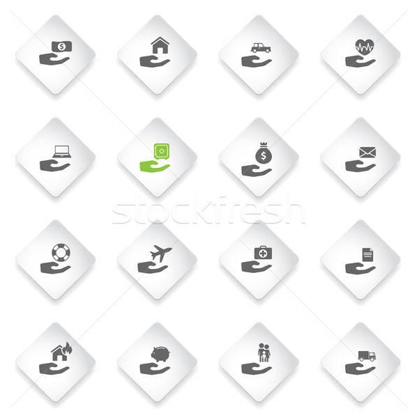 Seguro simplesmente ícones símbolo os ícones do web usuário Foto stock © ayaxmr