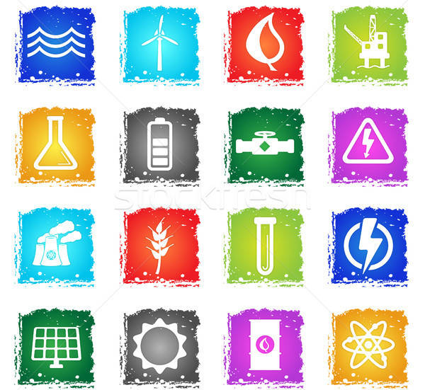 Power generation simply icons Stock photo © ayaxmr