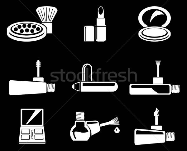 Stock photo: make-up products icons