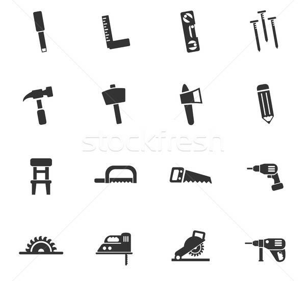 joinery icon set Stock photo © ayaxmr