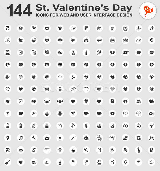 Valentines day icons Stock photo © ayaxmr