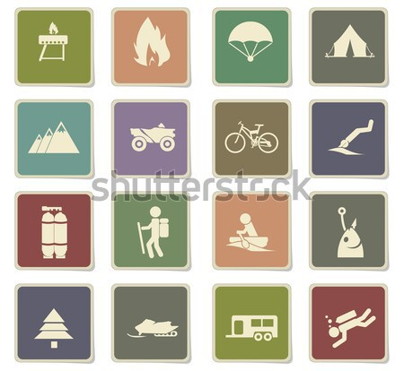 Active recreation icons Stock photo © ayaxmr