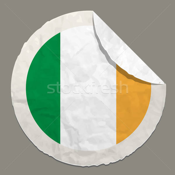 Ireland flag on a paper label Stock photo © ayaxmr
