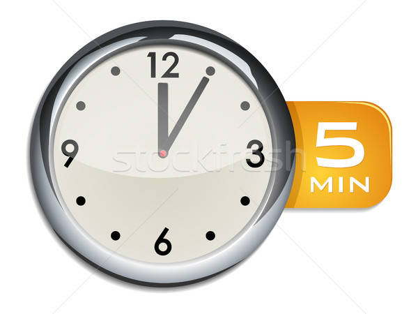 office wall clock timer 5 minutes Stock photo © ayaxmr