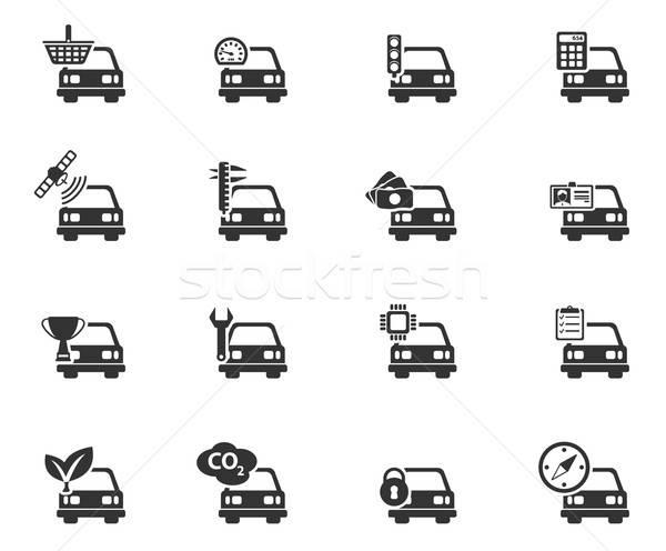 автомобилей службе просто иконки символ веб-иконы Сток-фото © ayaxmr