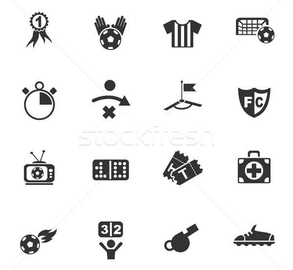 Piłka nożna web ikony użytkownik interfejs projektu Zdjęcia stock © ayaxmr