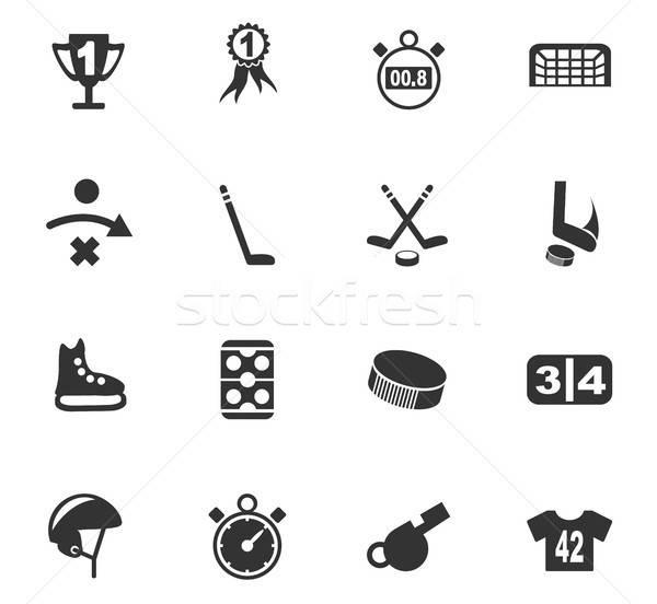 Hockey iconos de la web usuario interfaz diseno Foto stock © ayaxmr