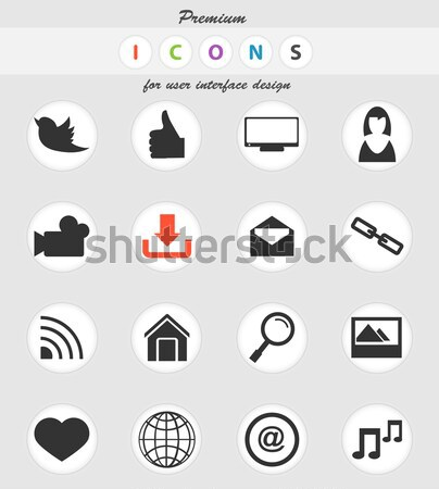 Social media icons set Stock photo © ayaxmr