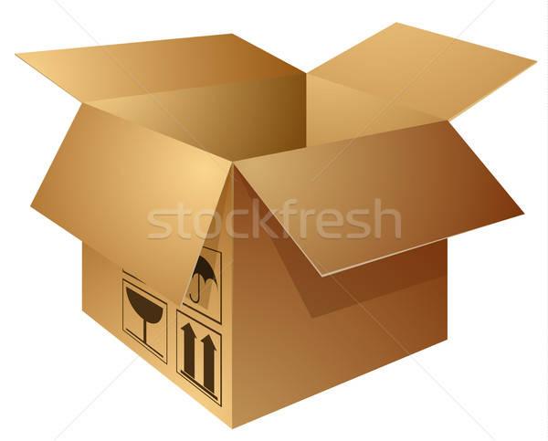 carton box Stock photo © ayaxmr