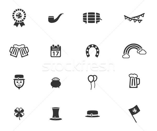 День Святого Патрика просто иконки символ веб-иконы пользователь Сток-фото © ayaxmr