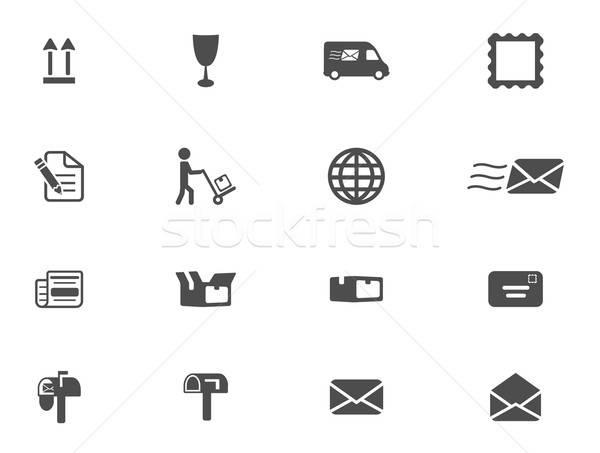 Post dienst eenvoudig iconen symbool web icons Stockfoto © ayaxmr