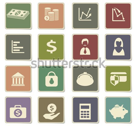Działalności finansów ikona po prostu internetowych użytkownik Zdjęcia stock © ayaxmr