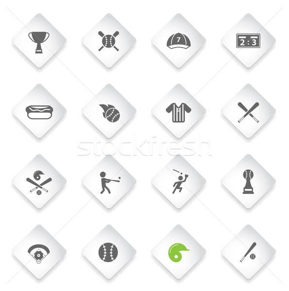 Beisebol simplesmente ícones símbolo os ícones do web usuário Foto stock © ayaxmr
