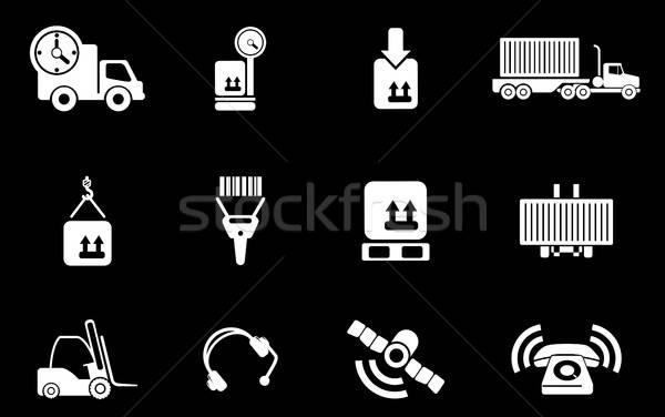 Logistique icônes simplement symboles web utilisateur Photo stock © ayaxmr