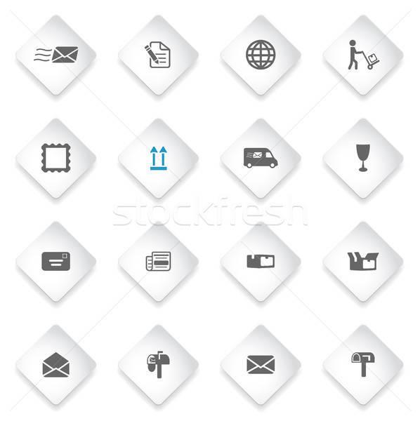 пост службе просто иконки символ веб-иконы Сток-фото © ayaxmr