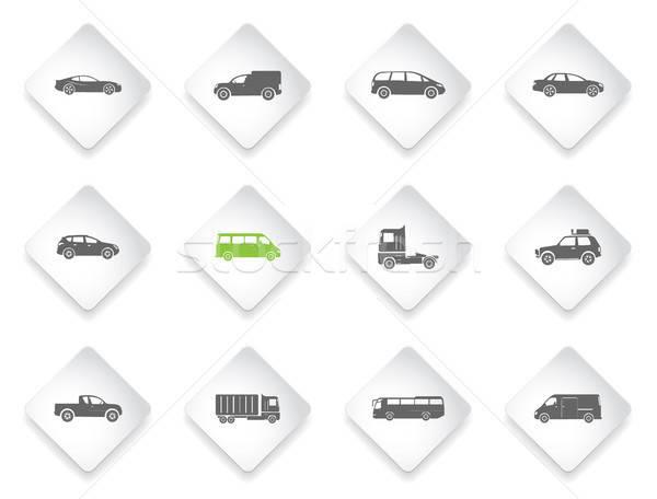 Véhicules simplement symboles web utilisateur Photo stock © ayaxmr